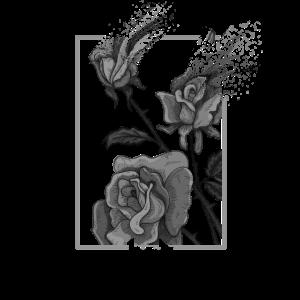 bad attitudes aesthetic zerfließende Rose