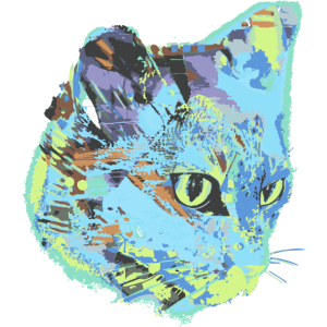 katze, katzenkopf, illustration, graffiti, cat,