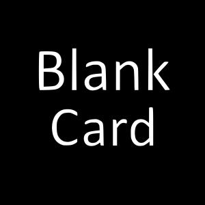 Blank Card Black