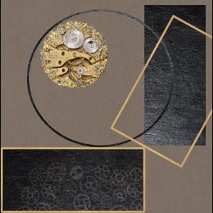 Clock Geometric Artwork