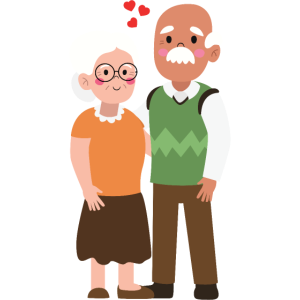 Älteres Ehepaar Oma und Opa