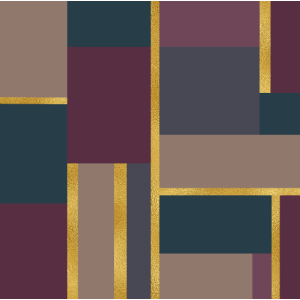 Geometric Squares green beige pink gold