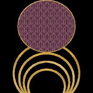 Artdeco Geometric Artwork with Gold Detail