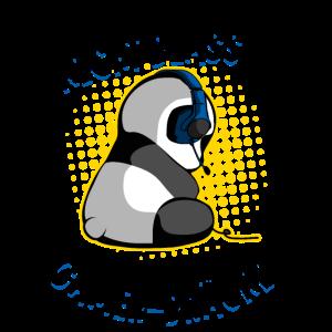 Gaming Panda Gamer-Bräune Zocken Zockender Bär Fun