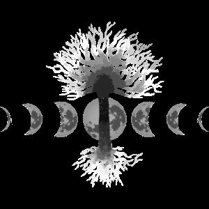 Yggdrasil mit mond Nordic Nordisch Wikinger Gift
