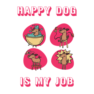 Happy Dog - Design für Hundefriseure, Hundesalons