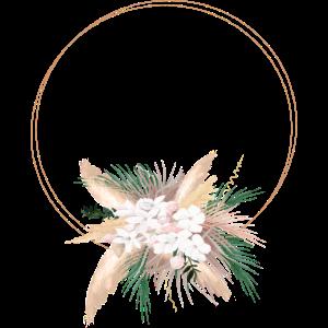 Boho Blumenstrauß personalisierbar