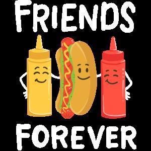 Senf Hotdog Ketchup Kawaii
