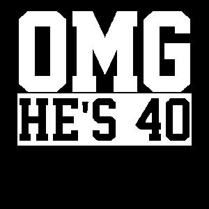 40. Geburtstag vierzig 40 Jahre alt