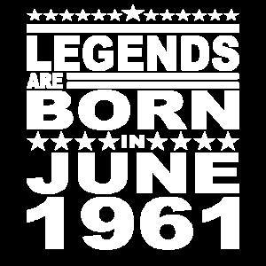 Legendär seit Juni 1961 Jahr 1961 Geburtstag June