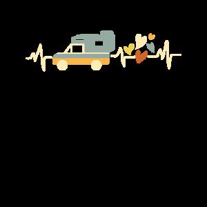 Pickup Wohnkabine Herzschlag mit Herz Camping