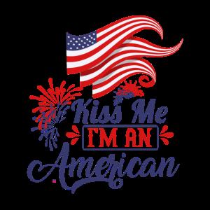 4. Juli USA Feier 1776 Kuss