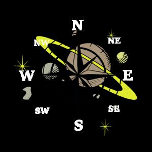 Umlaufbahn Universum Kompass Windrose