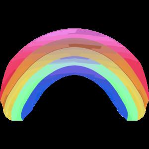 Regenbogen Wasserfarboptik, farbenfroh