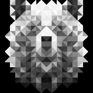 Bär im Triangulation Design für Kunstliebhaber