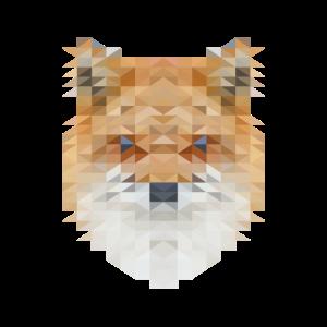 Fuchs im Triangulation Design für Kunstliebhaber