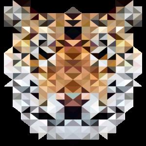 Tiger im Triangulation Design für Kunstliebhaber
