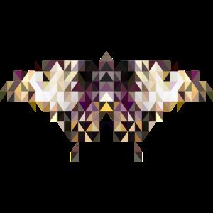 Schmetterling im Triangulation Design für Kunst