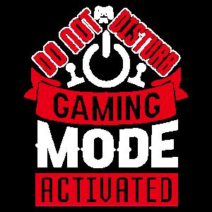 Lustige Gaming Shirt - Gaming-Modus auf