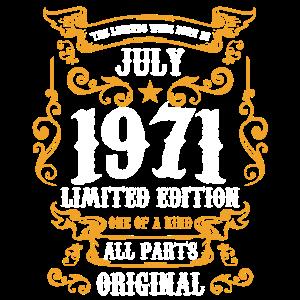 Juli 1971 50.Geburtstag 50 Jahre Geschenk