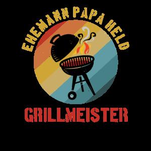 Papa der Grillmeister Griller BBQ Grillen