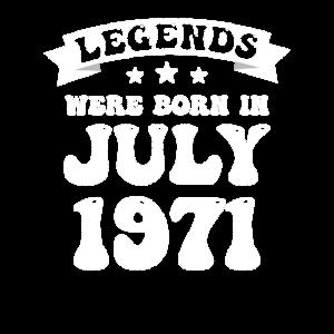 50. Geburtstag Juli 1971 Vintage Geschenkidee