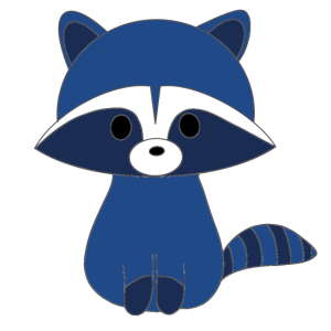 Kawaii kleiner Waschbär