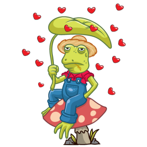 Cottagecore Aesthetic Frosch auf Pilz Lustig
