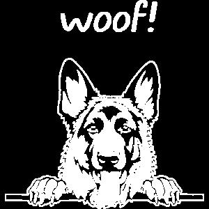 German Shepherd Woof