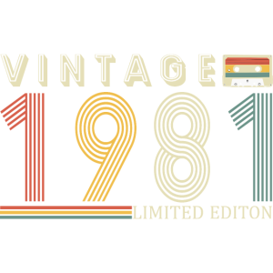40. Geburtstag Limited Edition 1981 Vintage Retro