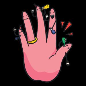 Finger Verlobungsfeier Party mit Verlobungsring