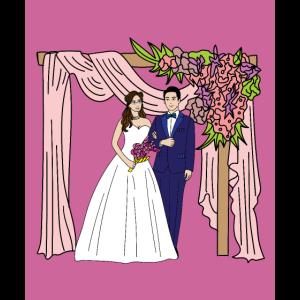 Heiraten Hochzeit verliebtes Paar Traum