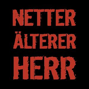 Geschenkidee Tshirt Netter älterer Herr Vater Opa