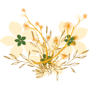 Blumen Beige Gelb