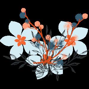 Blumen Hellblau