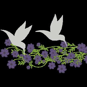 Blumen Kolibri Lila Flieder