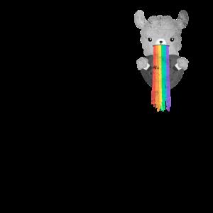 Lama Regenbogen LGBT Pride Gay CSD Brusttasche