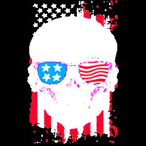 Amerikanische Totenkopfflagge