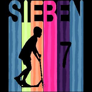 Kinder 7 Geburtstag Retro Roller Scooter Jungs