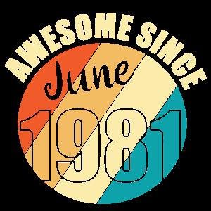 Jahrgang 1981 Juni Geburtstag Geschenk