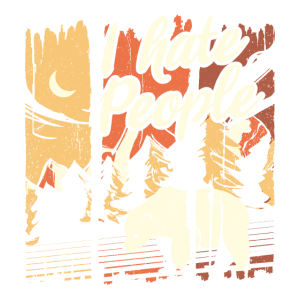 I Hate People Hiking Camping Gift Hiking Bear Gesc