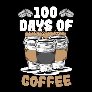 100 Days Of Coffee Funny School Teacher Coffee