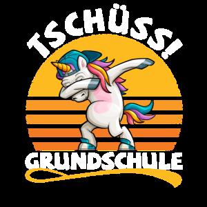 Grundschule Letzter Schultag dabbing Einhorn