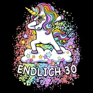 30. Geburtstag / Einhorn