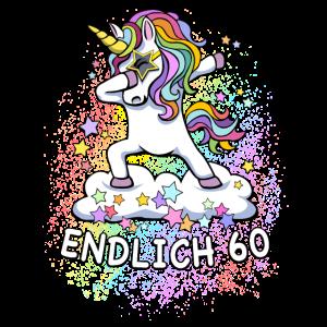 60. Geburtstag / Einhorn
