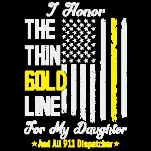 Dünne goldene Linie zu Ehren meiner Töchter