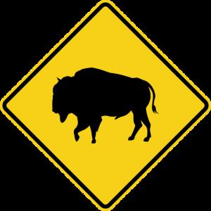 Bison Warnschild