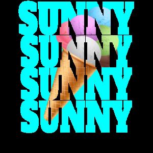 Sunny Eistüte Eiscreme Sommerurlaub Ferien