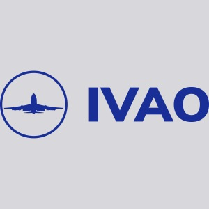 IVAO (Logo bleu complet)