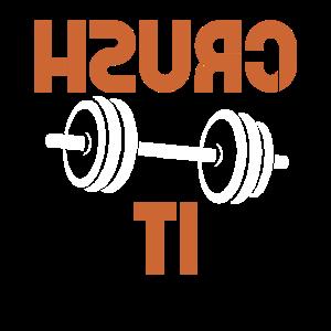 Crush It Gym Selfie Workout Selfie Lustiges Meme
